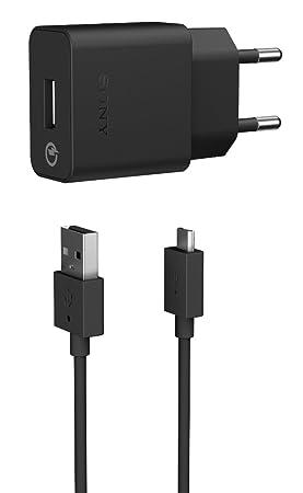 Sony UCH10 - Cargador rápido para móvil (Micro USB), color negro