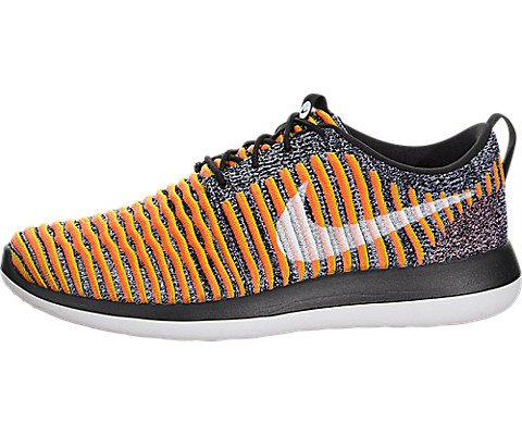 Nike Women's Roshe Two Flyknit Black/White/Bright Mango Running Shoe 7.5 Women US