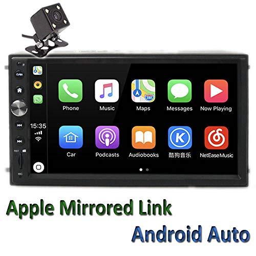 "Polarlander 2Din 7"" Universal Car Radio Mirror Link for All Smartphone Multimedia Player Universal Car Stereo with Radio,GPS, Bluetooth,Intelligent Voice Control,Rear View Camera"