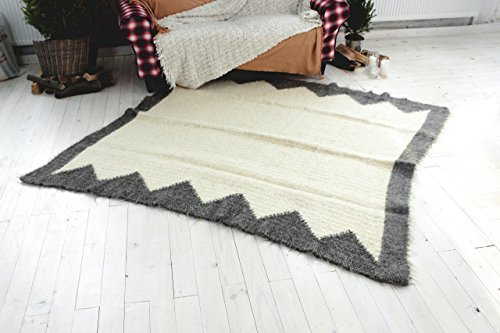 White Area Rug Gray Living Room Bedroom Carpet Rug Soft Floor Rug Handmade