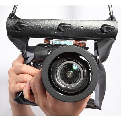 Buy Tteoobl Black Waterproof Bag Pouch Case Cover For SLR DSLR Camera Canon 600D 40D 60D 7D 5D Nikon D80 D90 D700 D5100 7000 Is Not Included