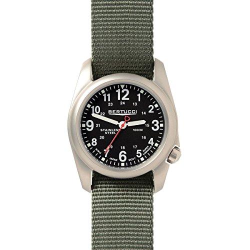 Bertucci A-2S Field 22mm Quartz Movement Watch, Black/Def...
