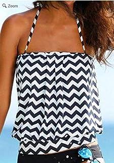 Oudan Split Swimsuit Wavy Texture è Anche Split Costume da Bagno Tankini, Picture Color, S (Colore : Come Mostrato, Dimensione : Taglia Unica)