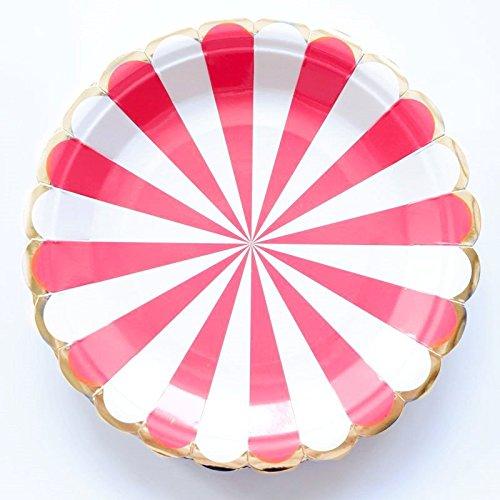 10 platos de papel desechables para decoración de tartas de ...