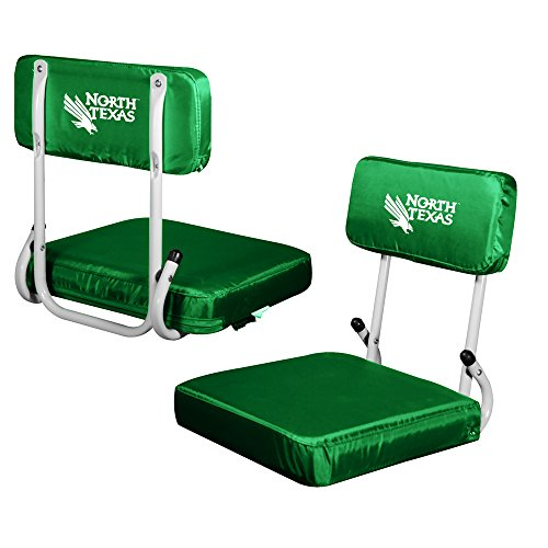 Logo Brands NCAA North Texas Hard Back Seat, One Size, Multicolor