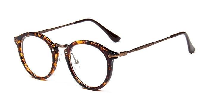 Embryform Retro lunettes rondes frame hommes miroir plaine et les femmes visage religieux sauvages 9580 Marron fi9lEsAAr