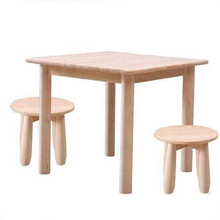 Juego de mesa y silla de madera maciza, mesa de actividades para ...