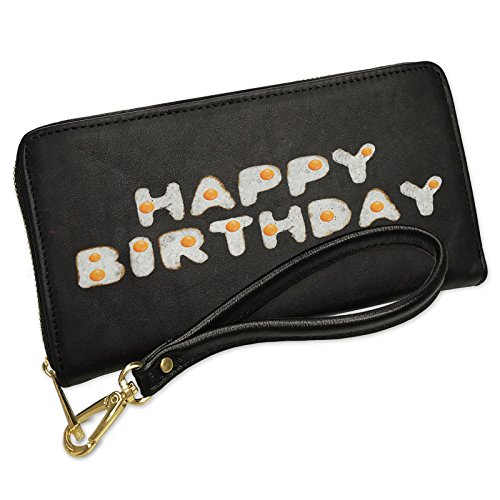 Wallet Clutch Happy Birthday Eggs Breakfast Brunch with Removable Wristlet Strap Neonblond