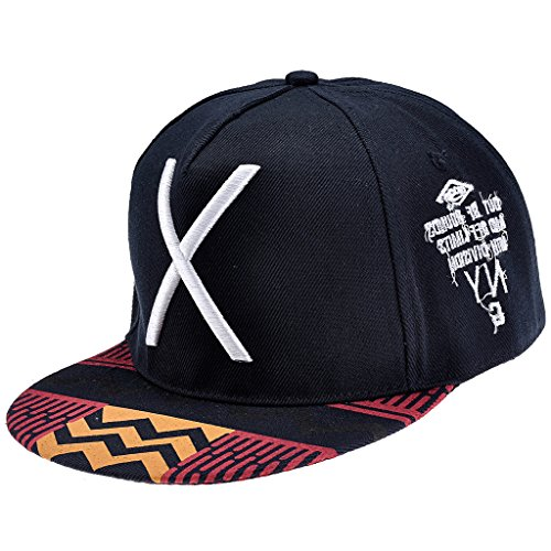 Ayliss Fashion Hip-hop Hat X Letter Embroidery Baseball Cap,Navy Blue