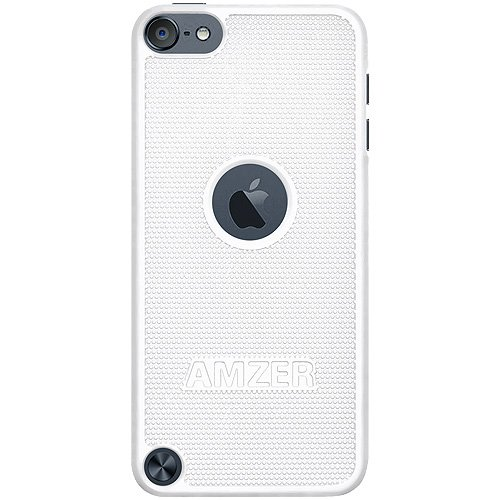 Amzer Snap On Hard Shell Case Cover for Apple iPod Touch 5G (White) (Ipod Case Touch 5g No Camera)