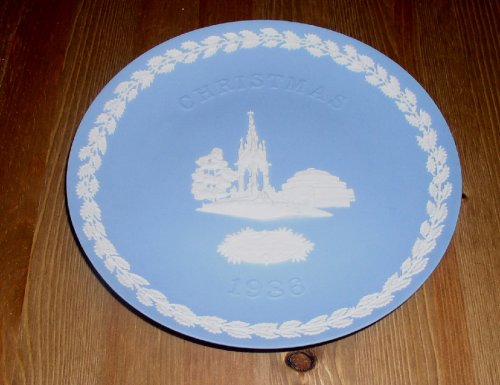 Wedgwood Christmas Plate 1986 - Albert Memorial - Jasperware