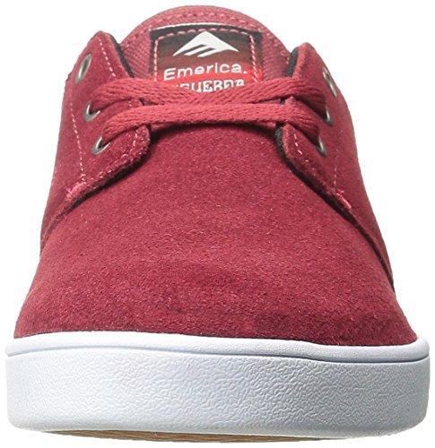 Emerica The Figueroa, Scarpe da Skateboard da Uomo Burgundy/White