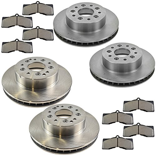 - Front & Rear Semi Metallic Disc Brake Pad & Rotor Kit for Chevrolet Corvette