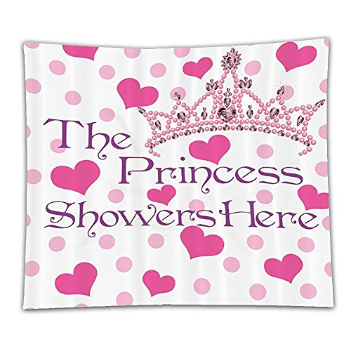 Beshowereb Fleece Throw Blanket Funny Quotes Girl Baby Birthday Decor Collection The Princess Here Hearts and Diamond Pearl Crown Po