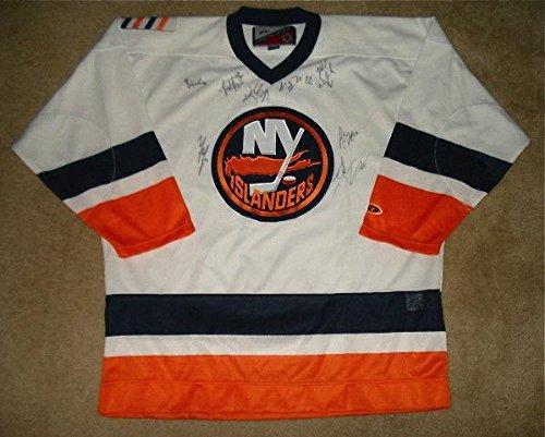 New York Islanders Team Jersey - 2013/14 New York Islanders Team Signed Jersey (w/Proof!) - Autographed NHL Jerseys