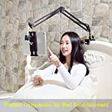 Tablet Stand for Bed,360 Degree Rotating Bed Tablet Mount Holder Stand with Aluminum Arm for iPad,iPhoneXS,Nintendo Switch, Amazon Kindle Fire,or Other 4~11 inch Devices