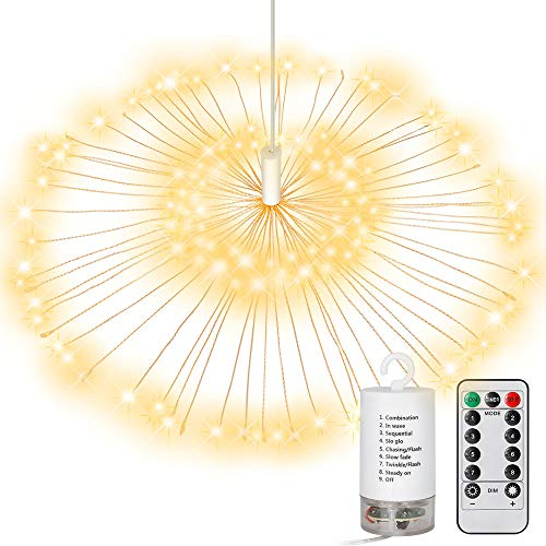 TINGAU Led String Lights - Waterproof Dimmable Starry Fairy Lights with Remote Control - 8 Modes Twinkle Lights - Interior Decor, Garden, Christmas, Craft and DIY