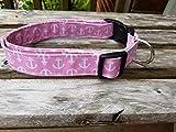 Pink Anchor Nautical Collar Dog Cat Collar