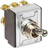 """Morris Products 70301 Toggle Switches, 3 Pole, On/Off, 1.09"""" Width, 1.31"""" Length, 0.80"""" Height"""