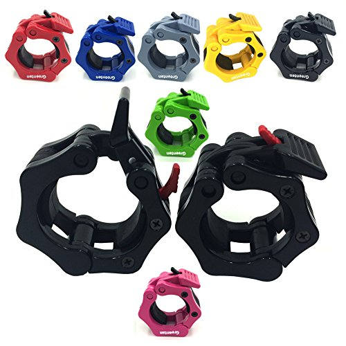 Greenten 2 Inch Barbell Clamps Quick Release Locking