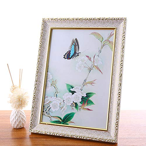 Klinsten 4x6 Picture Frame White Elegant and Nice Design 4x6 Photo Display Photo Frame for Desk or Wall 1 Pack