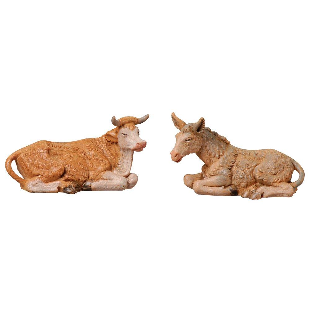 Fontanini 3-1/2-Inch Ox and Donkey Set, Nativity Addition
