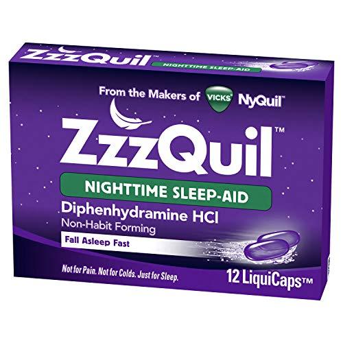 [지퀼] Zzzquil Nightime Sleep Ai Size 12ct Zzzquil Nightime Sleep Aid Liquicaps 12ct [수면유도제]