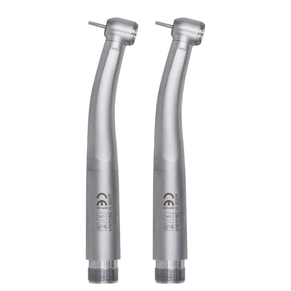 2PCS LED Light High Speed Push Button Hand Tools 2 Hole, Power Rotary Teeth Polishing Kit