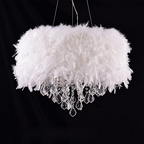 Surpars House White Feather Crystal Chandelier 4 Light Pendant Light Buy Online In Uae Hi