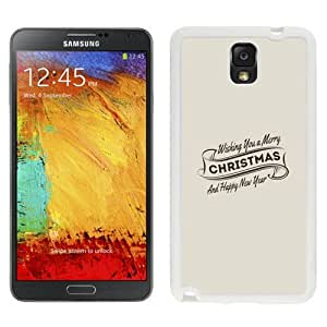 NEW Unique Custom Designed Samsung Galaxy Note 3 N900A N900V N900P N900T Phone Case With Wishing You A Merry Christmas And Happy New Year_White Phone Case
