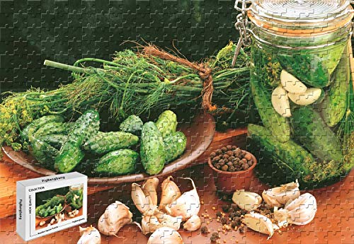 Price comparison product image PgiBangbang,1500 Piece Jigsaw Puzzle - Cucumbers Garlic Vegetable Perfect Choice for The Puzzle Lover Wooden Puzzle in Box,34.2 X 22.4 Inch
