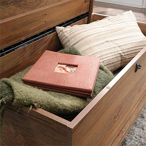 Sauder Eden Rue Contemporary Wood Blanket Chest in Sindoori Mango