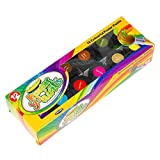 Pack of 12 Assorted Colour Poster Paints 15g Black Tubs Childrens Art Craft Set
