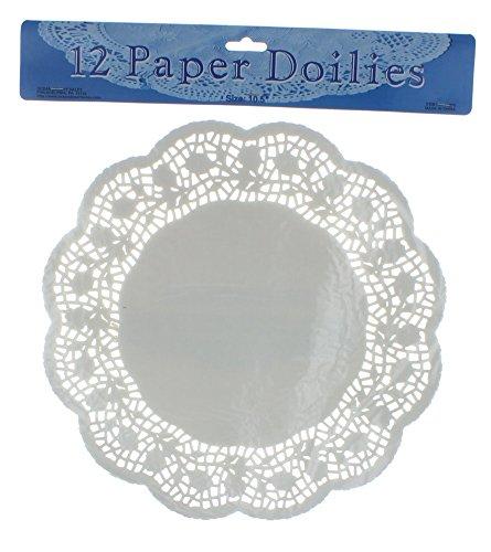 (Ocean Desert 12 White Paper Lace Doilies 10.5