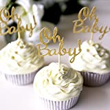 Oh Baby Cupcake Topper/birthday cup cake topper/table decorations/Birthday cupcake topper/Baby Shower Party/First Birthday