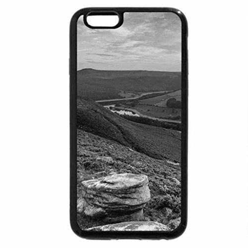 iPhone 6S Case, iPhone 6 Case (Black & White) - beautiful view of a river valley