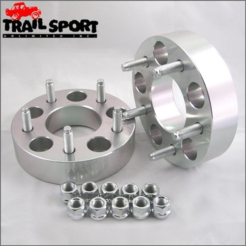 trailsport4x4 1.25 inch Adapter Kit for Jeep - 5x4.5 Hub To 5x5.5 Wheel