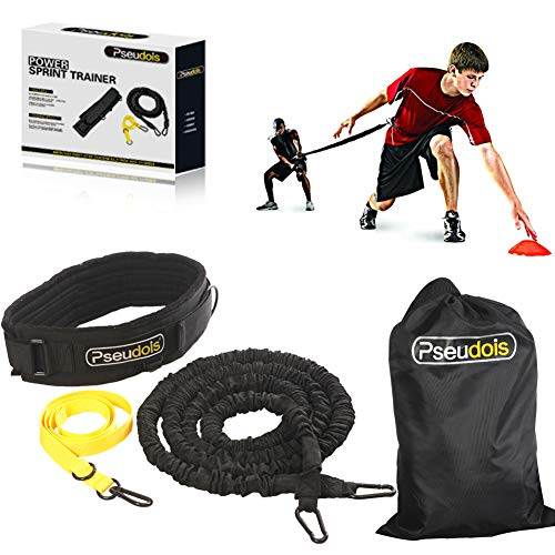 Pseudois Resistance Bungee Band, Running Training Bungee Workout Band, Speed Strength, Basketball and Football Equipment for Improving Strength, Power and - Belt Resistance Training