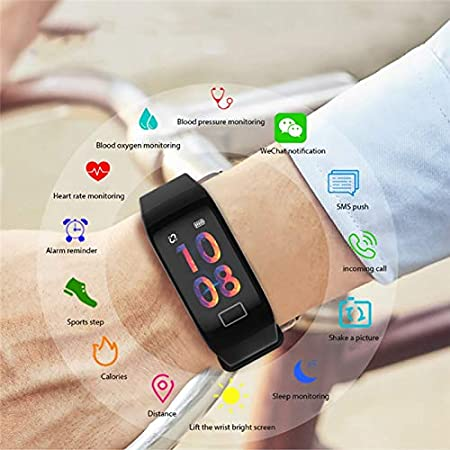 WEARFIT Smart Bracelet Waterproof Fitness Activity Tracker Bluetooth Smart  Band Pedometer Watch Wristband for Android iOS Smart Phone