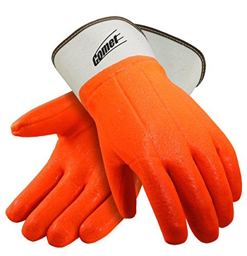 - Galeton 7210 Comet Insulated PVC Coated Gloves, Safety Cuff, Large,Orange (Pack of 12)