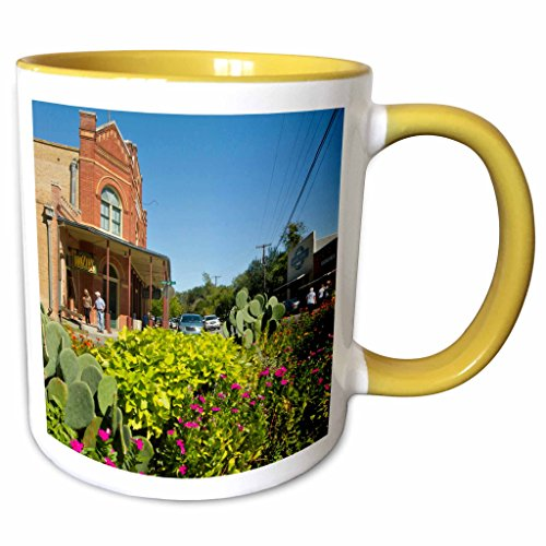 3dRose Danita Delimont - Texas - Historic Dancehall, Gruene, New Braunfels, Texas, USA - US44 LDI0930 - Larry Ditto - 11oz Two-Tone Yellow Mug - Outlet New Braunfels