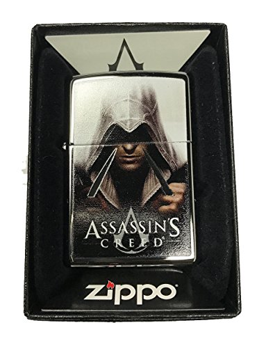 - Zippo Custom Lighter - Assassin's Creed Video Game Face - High Polish Chrome