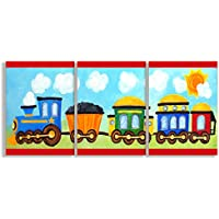 The Kids Room by Stupell Choo Choo Train In The Sun 3-Pc....