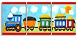 The Kids Room by Stupell Choo Choo Train In The Sun 3-Pc. Rectangle Wall Plaque Set, 11 x 0.5 x 15, Proudly Made in USA