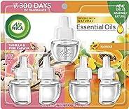 Air Wick Plug in Scented Oil Refill Freshener Essential Oils, Hawaii and Vanilla & Pink Papaya, Hawaii, 5