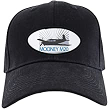 CafePress - Aircraft Mooney M20 Black Cap - Baseball Hat, Novelty Black Cap