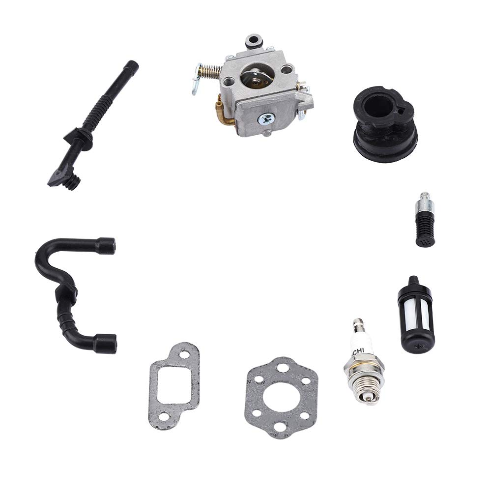Fditt Carburador para STIHL MS170 MS180 017 018 Carb Echo Homelite Motosierra Cadena Trimmer