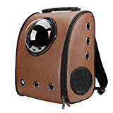 Texsens Innovative Traveler Bubble Backpack Pet Carriers for Cats and Dogs (Coffee)