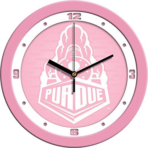 (SunTime NCAA Purdue Boilermakers Wall Clock - Pink)