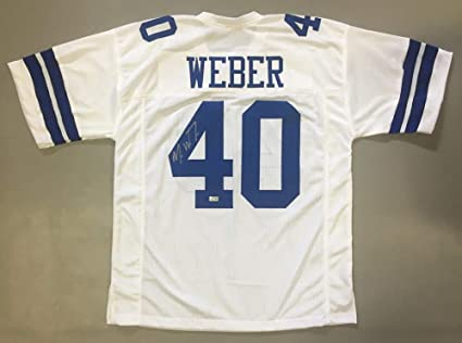 cheap for discount caabb e85fc Mike Weber Signed Dallas Cowboys Jersey (TriStar Hologram ...